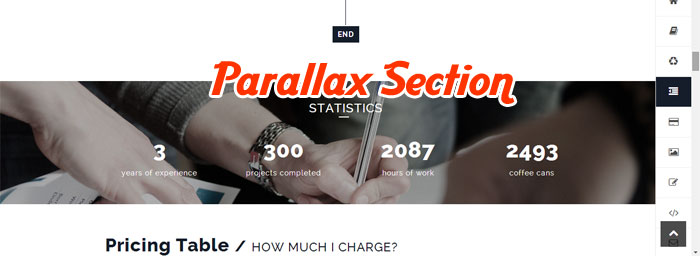 Parallax Section