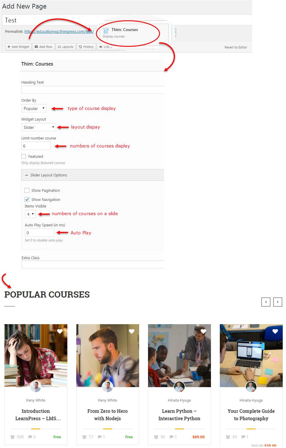 thim courses