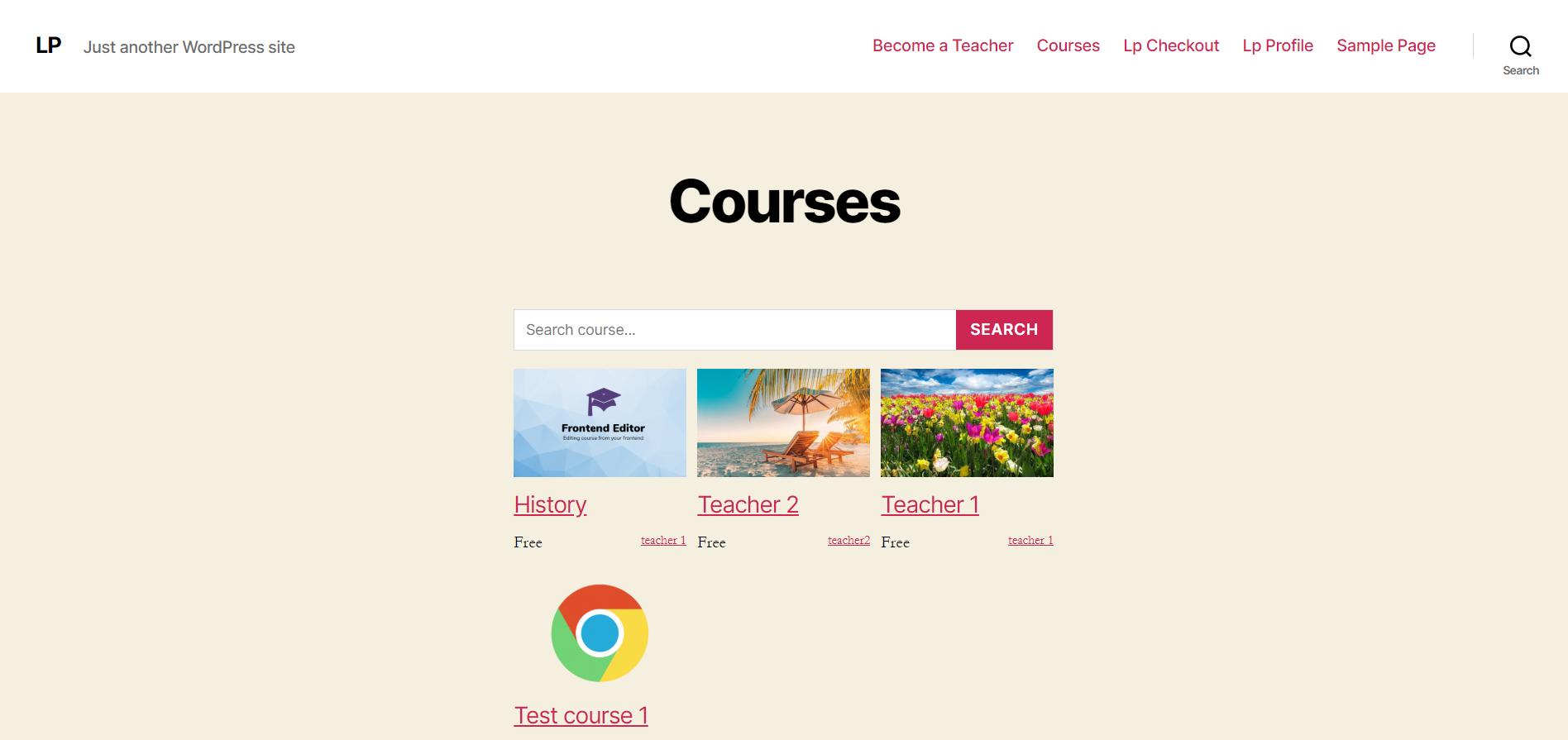 Enable course thumbnail