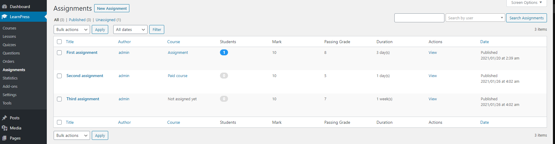assignment-dashboard